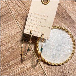 NWT Anthropologie Crystal Hoop Earrings